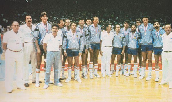 Equipo de España en la final de baloncesto de Los Angeles 1984