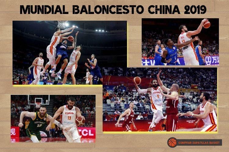 Mundial Baloncesto china 2019 imagen de varios partidos de la selección española
