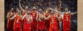 Mundial Baloncesto China 2019 Imagen de la selección española celebrando el título