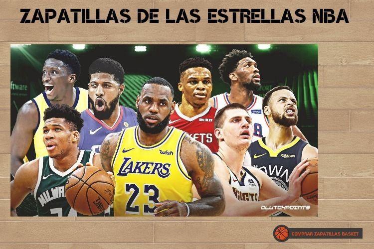 zapatillas estrellas nba las mejores zapatillas de basket de los mejores jugadores de la NBA