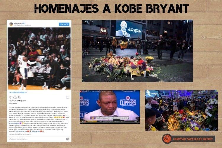 homenajes en todo el mundo a kobe bryant