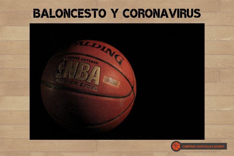 baloncesto y coronavirus imagen de balón de la NBA