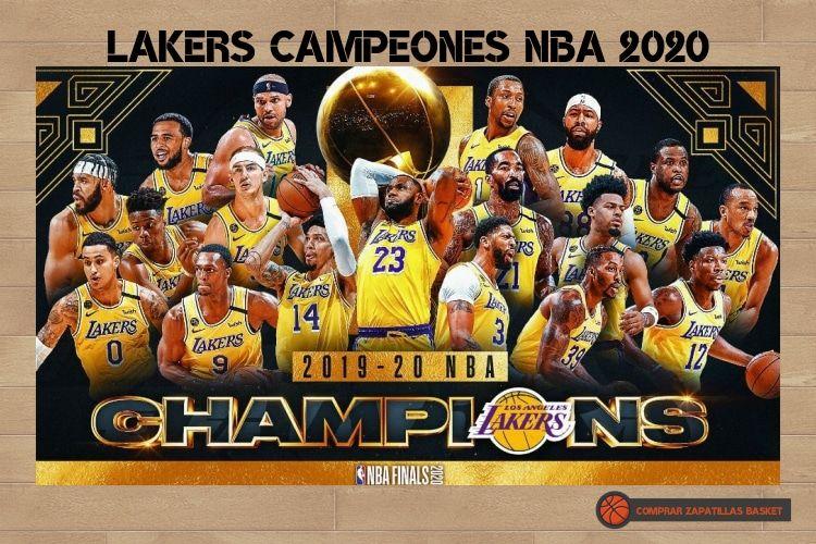 lakers campeón nba 2020 imagen del equipo